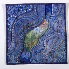 Glacial Flow by South African quilter Jenny Hearn. Note her inclusion of needlework into her quilt.