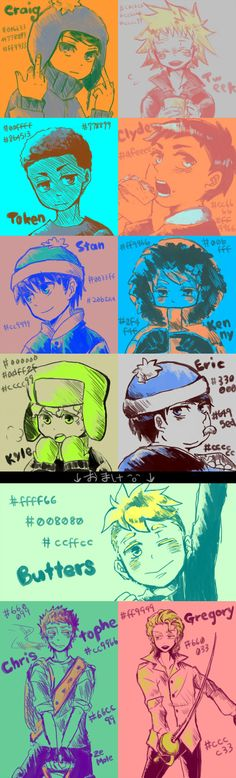 SP: Three color themes by mamiuuuuuu.deviantart.com on @deviantART ---- I'm mostly pinning it for the last two. I rarely see Christophe or the Mole drawn in memorable ways.