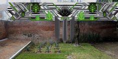 Mural propuesta tierra de agave y su proceso tech. Mr. Escobar Carlos Escobar agave land, arte ilustracion geometria