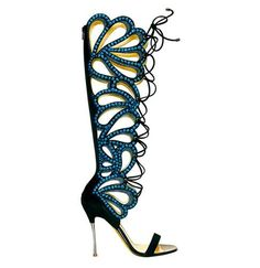 102.15$  Buy now - Hot Sale Summer Butterfly Cut-Outs Lace-Up High Heel Knee High Sandals Black Pink Tight High Gladiator Sandals Boots Women  #bestbuy