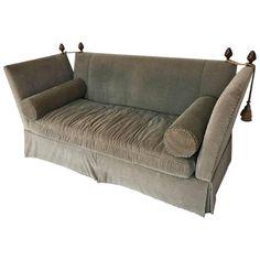 Flared Arm Tuxedo Knole Style Sofa For Sale at Home Decor Furniture, Modern Furniture, Furniture Design, Knole Sofa, American Sofa, Unique Sofas, Sofa Deals, French Sofa, Best Leather Sofa