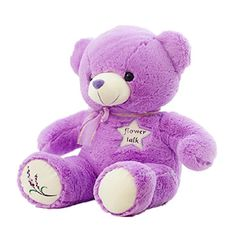 Sunny World Cuddly Purple Lavender Teddy Bear Toy  43 Stuffed Animals Cushion Plush Doll Toys Valentine Gift Graduate Gift Fiesta Toys for Girlfriend Children and Friends >>> Continue to the product at the image link.