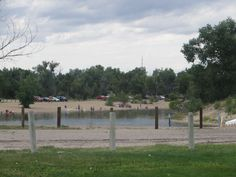 """The large """"pond"""" for water fun at EKW State Park, near Casper, Wyoming"""