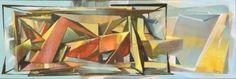 "Saatchi Art Artist Koppány Árnyas; Abstract Shapes Painting, ""Landscape with objects"" #art"