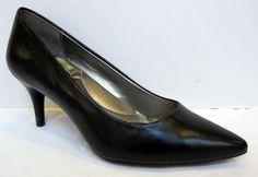 Bandolino 'Inspire' Black Leather Pump Size 6M #Bandolino #PumpsClassics