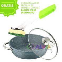 Cratita joasa aluminiu 28 cm cu strat de granit Casual Cook CC-2516-28 Cooking, Casual, Kitchen, Brewing, Cuisine, Cook