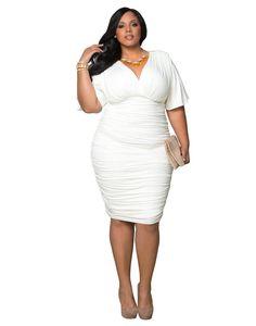 a72112d11fb Kiyonna Women s Plus Size Rumor Ruched Dress http   amzn.to 1UkuxFO