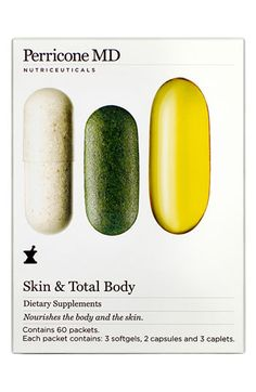 Perricone MD Nutriceuticals Skin & Total Body Dietary Supplements available at #Nordstrom These are the BEST vitamins I have ever taken! Already noticing a difference!