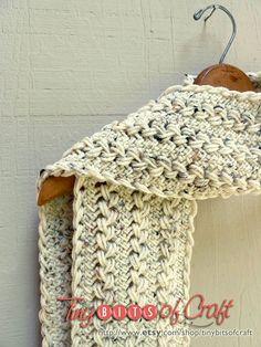 SALE 15%:  Crochet scarf in cream, cream scarf, oatmeal scarf, beige scarf, knit hairpin lace, neutral scarf, cream wrap, winter accessory
