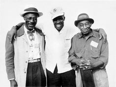 Son House, Skip James and Mississippi John Hunt.