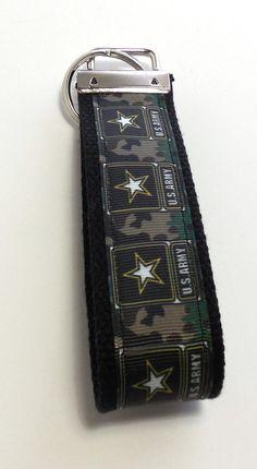 Army Military Wristlet Key Fob Key Ring Key by GabbysQuiltsNSupply, $5.50