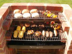 BKB 201 BLACK KNIGHT HEAVY DUTY BRICK BBQ KIT WITH CHROME COOKING GRILL | eBay