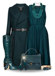 """""""Teal Dress Outfit"""" by superstylist ❤ liked on Polyvore featuring Ted Baker, Pier 1 Imports, Sally&Circle, Janna Conner Designs, Gypsy SOULE, Valerie Nahmani Designs, women's clothing, women, female and woman"""