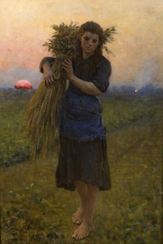 Gleaner (Glaneuse), 1894 by Jules Breton (French, 1827 - 1906)