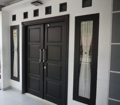 House design exterior contemporary entrance 40 Ideas for 2019 Main Entrance Door Design, Wooden Main Door Design, Double Door Design, Front Door Design, House Entrance, Modern Entrance, Modern Entry, Front Door Entrance, Door Entryway