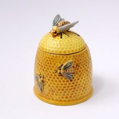 Vintage bee skep honey pot, c, 1930's