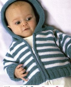 Simple Striped Hoodie - free knitting pattern download from Let's Knit!