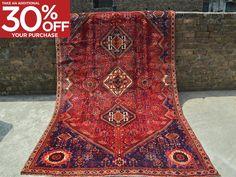 Antique Oriental Area Size Carpet