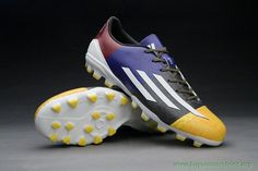 Cheap Soccer Cleats ADIDAS ADIZERO F50 Yellow/White/Red AG Messi