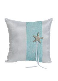 Seaside Allure Ring Pillow, Style 8498 #davidsbridal #beachweddings #ringbearer