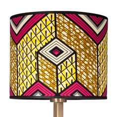 Lubumbashi Lamp Shade - 3rd Culture lamp shades are hand made in Istanbul using West and Central African fabrics. Size: 25 x 25 x 20