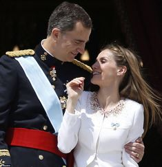 "Sept. 19, 2014 ascension to throne,  ""Felipe and Letizia showed a strong, united front as he told the crowds that 'together, in this united and diverse country, we can do anything'"" via the Daily Mail"