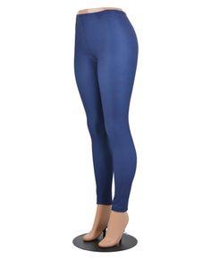 Navy / 92% Polyester, 8% Spandex / One Size / Legging