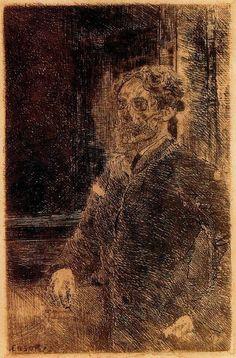 James Ensor. Self-portrait (1889).
