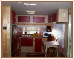 Coca Cola camper: kitchen, another view.