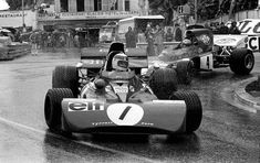Jackie Stewart leading in the wet at Monaco. Jackie Stewart, Vintage Sports Cars, Vintage Race Car, Gp Moto, Monaco Grand Prix, Formula 1 Car, Racing Events, Racing Team, Auto Racing