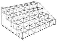 """Mini Bin, four trays. size: 4 7/8"""" H x10 1/4"""" W x 8"""" D  Extra-small compartments make it easy to keep tiny items stocked in this bin unit. The mini bin system is made up of trays that are 1"""" H x 10"""" W x 1-3/4"""" D."""