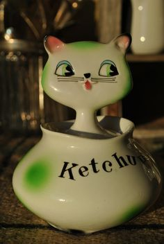 RARE Howard Holt Cozy Kitten Ketchup Jar