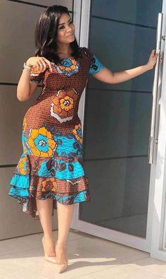 Beautiful floral print African Dress fashion Most beautiful African Print Ankara Gown Styles And Designs. Beautiful floral print African Dress fashion Most beautiful African Print Ankara Gown Styles And Designs. Best African Dresses, Latest African Fashion Dresses, African Print Dresses, African Print Fashion, African Attire, Ankara Fashion, Dress Fashion, Africa Fashion, African Prints