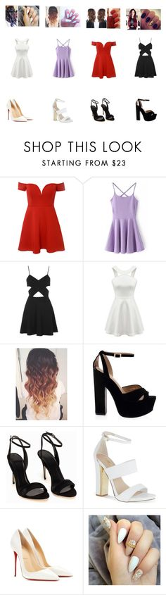 """""""Untitled 93"""" by aminataremy ❤ liked on Polyvore featuring Glamorous, Topshop, Polo Ralph Lauren, Carvela, Christian Louboutin and Essie"""