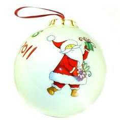 Personalised Fine China Bauble - Father Christmas  from Personalised Gifts Shop - ONLY £12.99