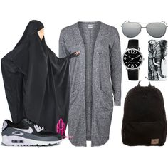 Sans titre #19 Hijab Style, Islamic Fashion, Hijab Fashion, Styles, Muslim, Robes, Casual Outfits, Outfit, Casual Clothes