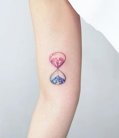 If you want to do the tattoo of hourglass but you are not sure where and how you can opt for a small tattoo on the inside of the hand, upper arm, forearm or above ankle.