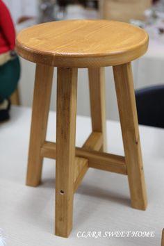 愛爾蘭圓凳製作:Naver的博客 Wooden Lawn Chairs, Chair Design Wooden, Wood Table Design, Dining Table Design, Wooden Stools, Deck Furniture, Diy Pallet Furniture, Woodworking Furniture, Furniture Design