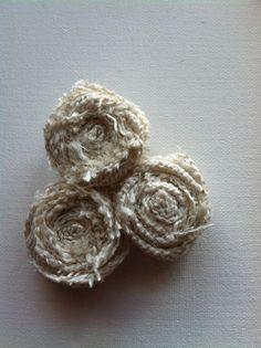 Burlap Three Flower Pin, $7.00
