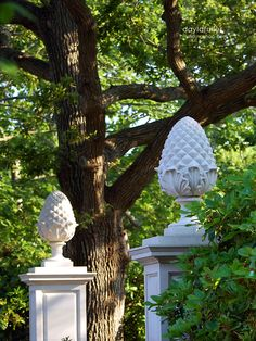 Beautiful concrete pineapple finials