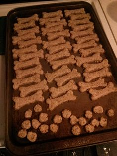 Spent Grain dog treats - 4 cups grain, 2 cups flour, 1 cup peanut butter, 2 eggs. Bake 350 degrees 30 min then ~4 hours on warm to finish drying out.