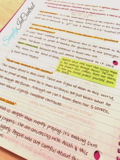 Note taking tips!