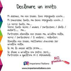 Italian Grammar, Italian Vocabulary, Italian Phrases, Italian Quotes, Italian Language, English Vocabulary, Learn To Speak Italian, Italian Lessons, Italian People