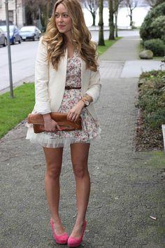 Outfit: Dress c/o Club Couture|Chic Wish Tutu|Zara Blazer|  Fossil Maddox Watch|Taner Bar Necklace c/o Gorjana|VintageBracelet|  American Apparel Clutch|Elizabeth Brady Coco Pumps.  afashionloveaffair.com