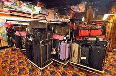 Carnival Ecstasy luggage arrival