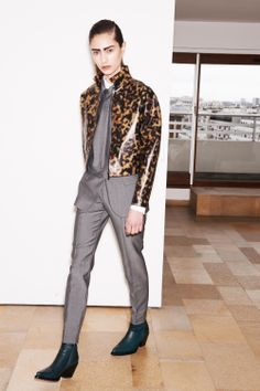 Barbara Bui Pre-Fall 2014- lose the leopard and leave the grey suit