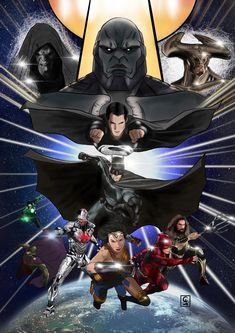 Zack Snyder Justice League, Justice League Comics, Dc Comics Heroes, Arte Dc Comics, Dc Comics Characters, Justice League Animated Movies, Dc Trinity, Batman Artwork, Arte Sketchbook