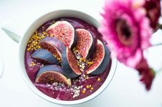 Fresh Fig and Black Rice Porridge - Herkkävatsaisen herkkupuuro | Keittiökameleontti