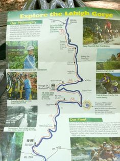 Map-of-the-Lehigh-Gorge bike Trail  would be a great ride  in pa  goes from Jim Thorpe to town of White Haven Pa