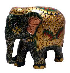 (sku no:meenakari painted Hand Crafted Indian Royal Elephant Green Meenakari Painted Wooden Sculpture Statue Colorful Elephant, Elephant Love, Elephant Art, Elephant Gifts, Elephant Jewelry, Elephant Sculpture, Lion Sculpture, Sculpture Painting, Sculpture Ideas